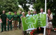 Staff at Queen's Park Celebrate Winning the Green Flag Award