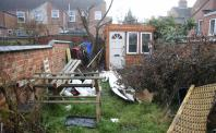 Untidy garden
