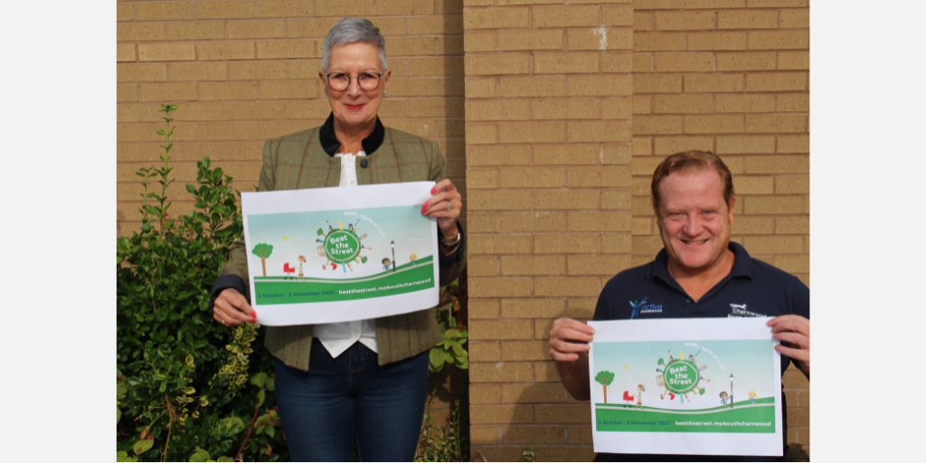 Photo shows Cllr Leigh Harper-Davies and Will Blanche Senior Active Recreation Development Officer