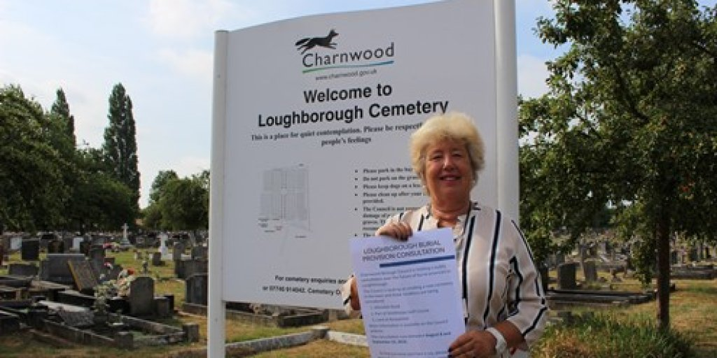 Cllr Bokor Loughborough Cemetery