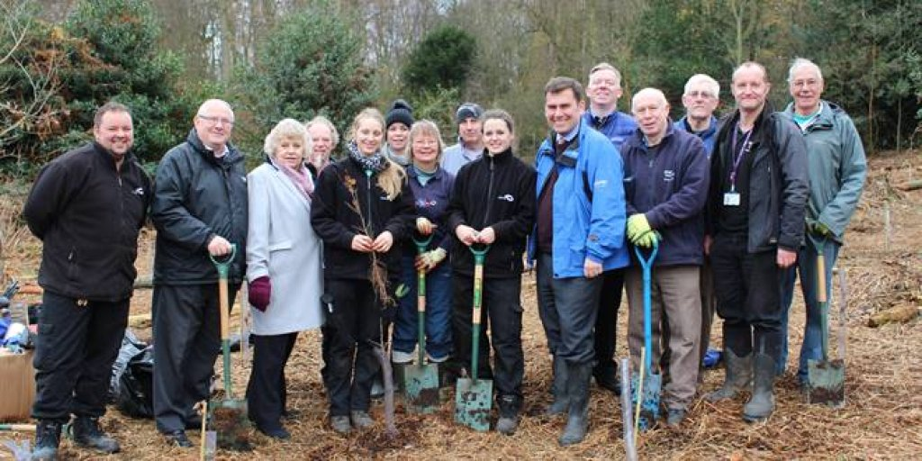Councillors and CBC Officers with Green Gym Volunteers
