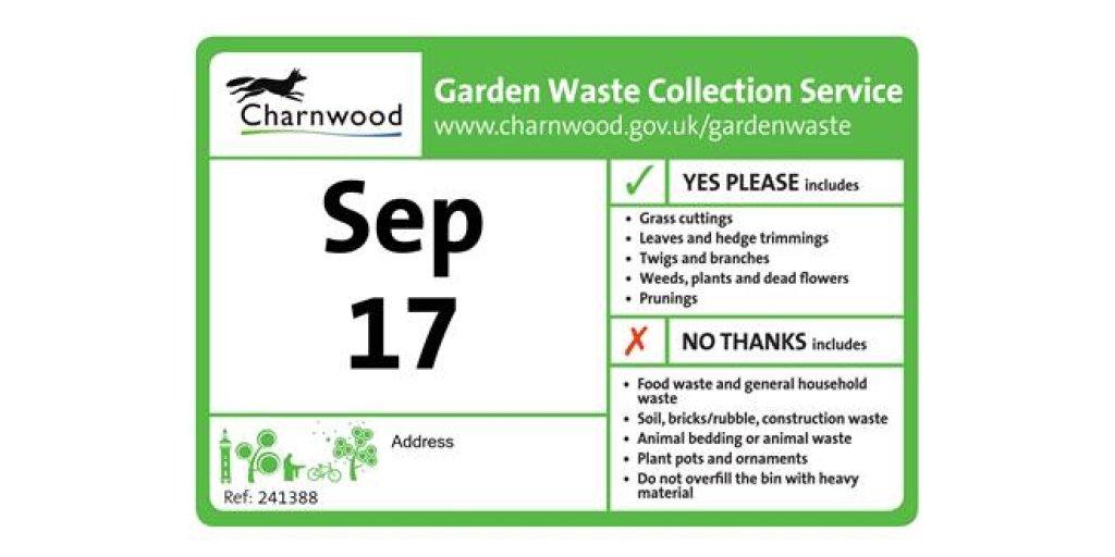 Garden Waste Stickers