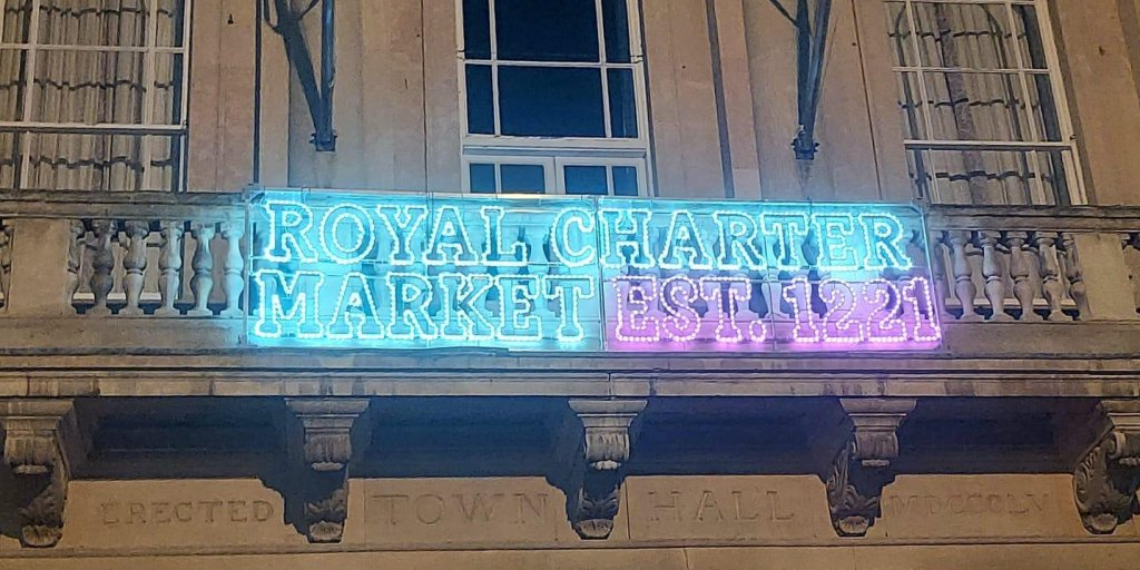 New lights mark 800th anniversary of market's Royal Charter