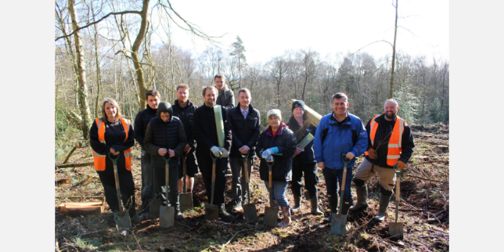 Outwoods planting Feb 2020