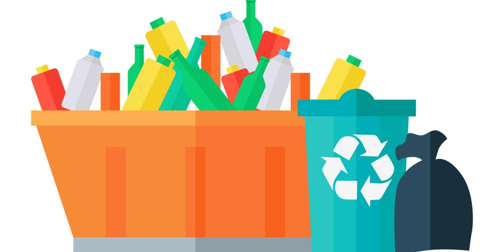Rubbish and Recycling Vector - Fotolia