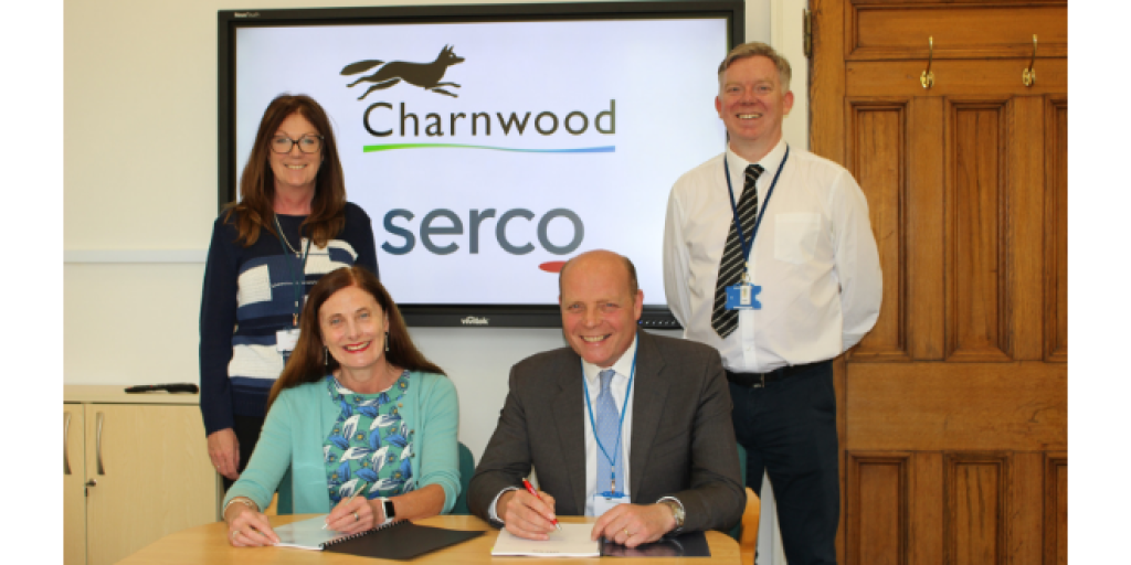 Serco contract signing