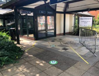 Southfields entrance June 2020