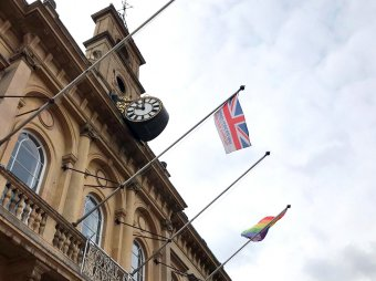 Armed Forces Day flag Loughborough Town Hall