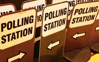 Elections 2021 Polling stations signs