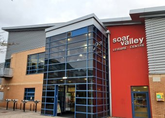 Exterior shot of Soar Valley Leisure Centre