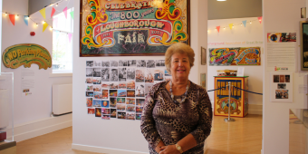Photo shows Cllr Jenny Bokor, lead member for Loughborough at the Fair 800 exhibition.