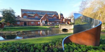 Front of Charnwood Museum in Queen's Park