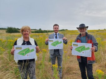 Cllr Jenny Bokor, lead member for Loughborough and open spaces, Cllr Roy Rollings, lead member for transformation and Roy Dann, Chair of Hathern Parish Council