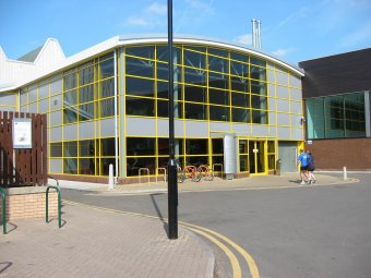Exterior shot of Loughborough Leisure Centre, Browns Lane Loughborough