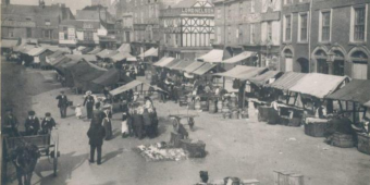 Loughborough Market in 1904