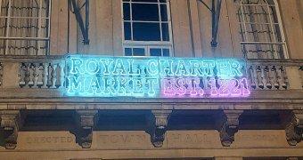 New lights mark 800th anniversary of market's Royal Charter