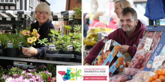 Market traders' photos winners - Donna Purdy of Donna's flowers and Andrew Smith of Smith's Fruit and Veg