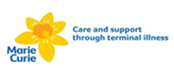 Logo for the Marie Curie charity.