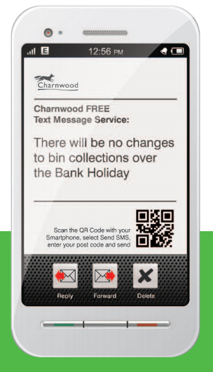 SMS updates - Bin collections
